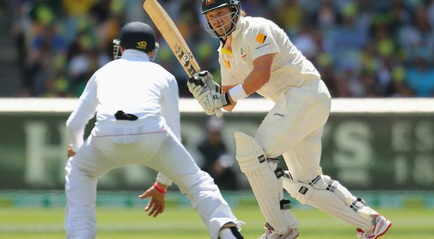 Shane Watson of Australia bats during day four of the Fourth Ashes Test Match between Australia and England at Melbourne Cricket Ground on December 29, 2013 in Melbourne, Australia