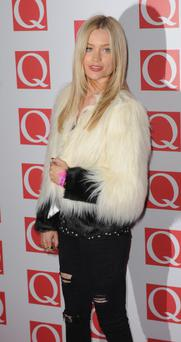 Laura Whitmore attends The Q Awards at The Grosvenor House Hotel on October 21, 2013 in London, England