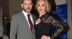 Kathryn Thomas, boyfriend Padraig McLoughlin at the Respect Christmas Lunch 2013
