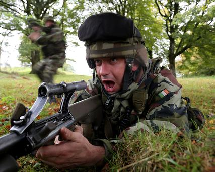 Mission Readiness Exercise, Glen of Imaal - Troops conduct intensive military training prior to deployment to Lebanon. Photo: Irish Defence Force/Flickr