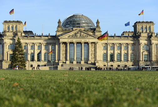The Reichstag building housing the German parliament Bundestag
