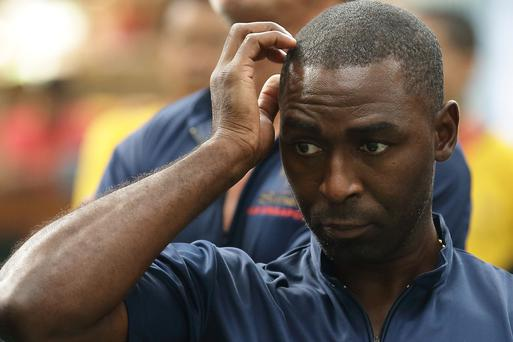 Former English football player Andy Cole sufffered racial abuse on Aer Lingus flight. (Photo by Suhaimi Abdullah/Getty Images)