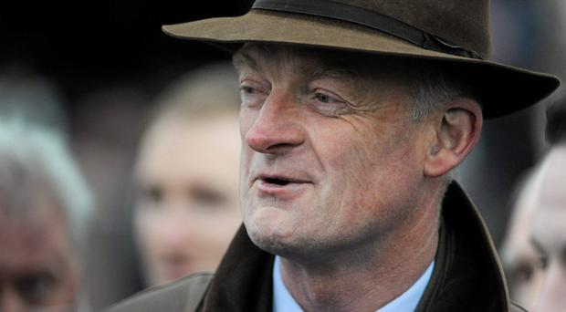 Trainer Willie Mullins after Hurricane Fly won The Ryanair Hurdle