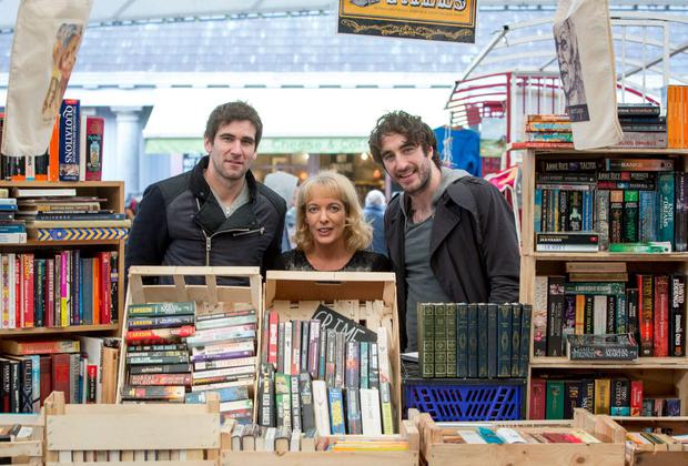 Patricia Ryan, CEO of Limerick City Of Culture, with Dave McPhillips and Danny O Reilly of The Coronas, pictured at The Milk Market for the official Launch of Limerick City Of Culture NYE. Credit: Sean Curtin
