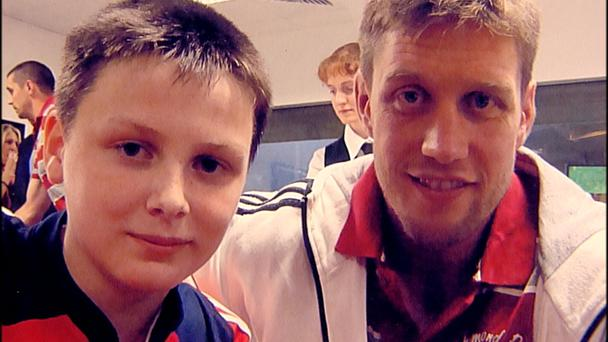 Donal Walsh with Ronan O'Gara
