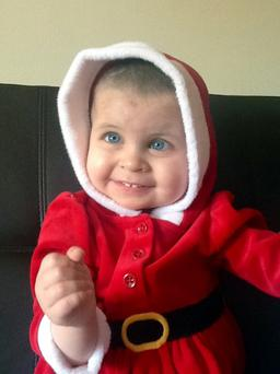 Kasey Kelly has just left ICU after her successful life-saving treatment and in time for her 3rd birthday on 31/12/13