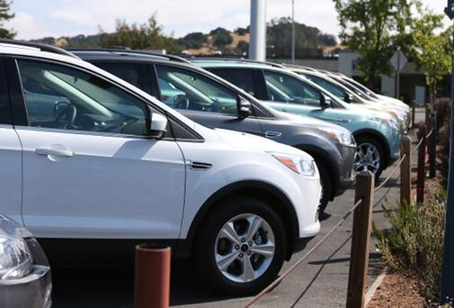 5,000 fewer cars were registered in Ireland last year. Photo: Getty Images.