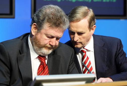 Taoiseach Enda Kenny,TD and Health Minister Dr.James Reilly