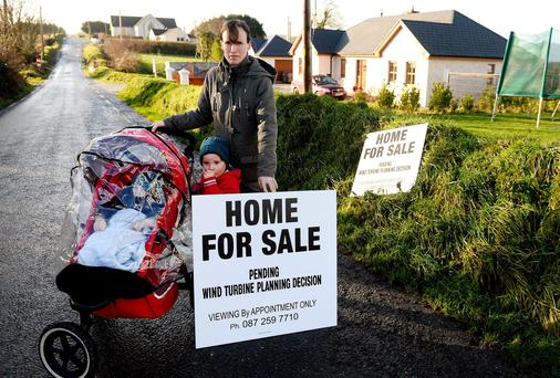 Siobhan Dennehy stands in front of her house which is now for sale.