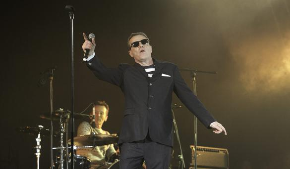 Madness in performance during the Three NYE Dublin Countdown Concert at College Green, Dublin. Photo: Gareth Chaney Collins