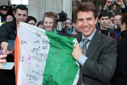 Tom Cruise pictured at the Irish Premiere screening of