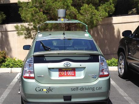 The Google self-driven car in Las Vegas