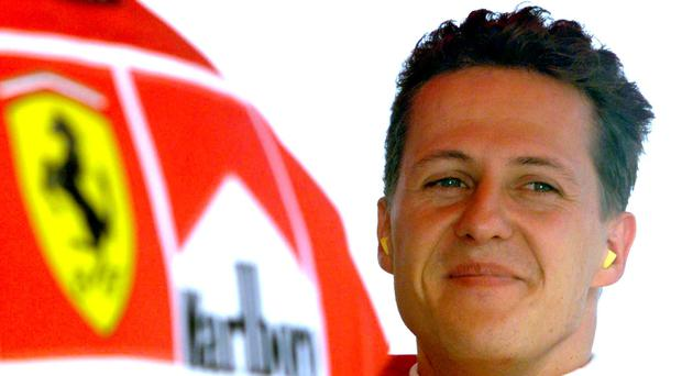 A file shot of Michael Schumacher. Photo: Reuters