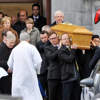 The funeral of Michael Clifford at The Church of the Descent of the Holy Spirit, Dennehy's Cross, Cork.