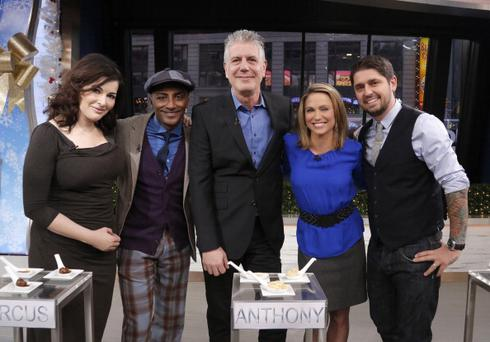 "The cast of ABC's ""The Taste"" appear on ""Good Morning America,"" 1/2/14, airing on the ABC Television Network"