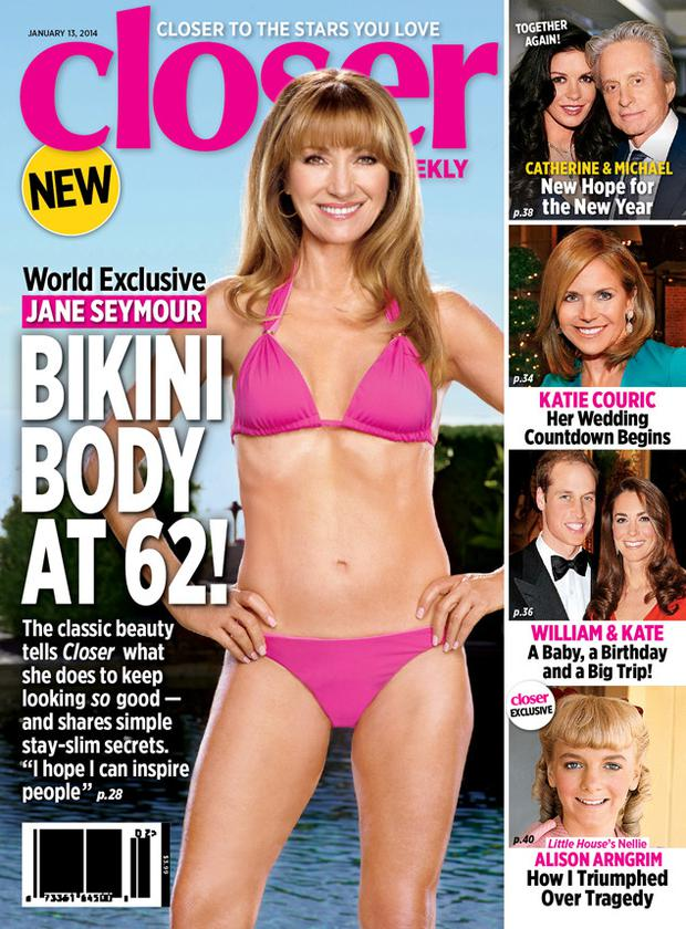 Jane shows off her incredible figure on the cover of Closer Weekly