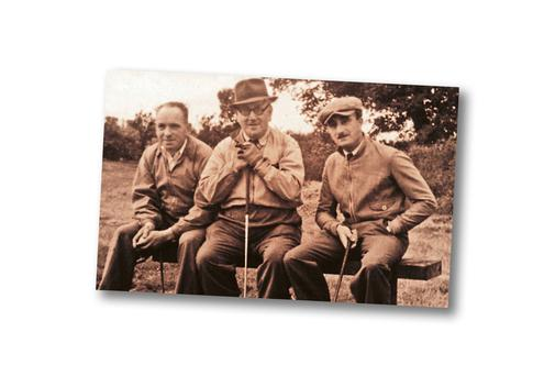 From left: Barney Leventhal, Sol White and Geoff Elliman at Edmonstown Golf Club circa 1947