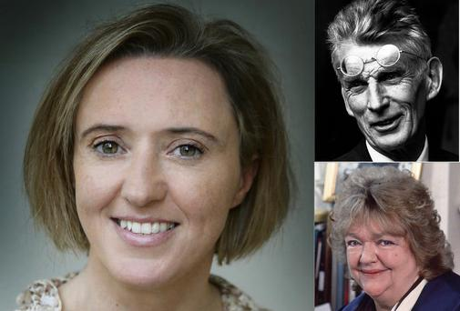 WRITE ON: (Clockwise from left) Liz Nugent's debut novel 'Unravelling Oliver' will be released this year along with the previously unpublished 'Echo's Bones' by Samuel Becket and 'Chestnut Street' by the late Maeve Binchy