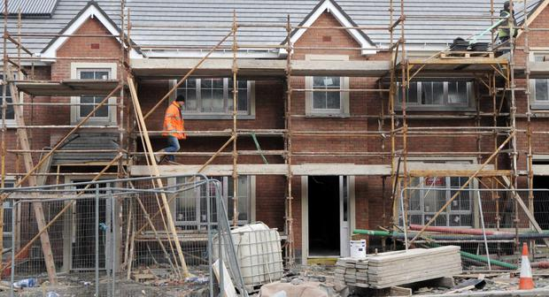 File pic of work on Peyton estate in Rathcoole, Co Dublin. 130,000 new homes are needed on the market to fill demand.
