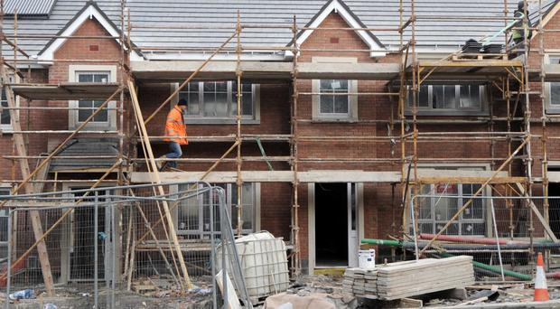 File pic of work on Peyton estate in Rathcoole, Co Dublin. Plans have been made for many new builds. Photo: Laura Hutton/Photocall Ireland