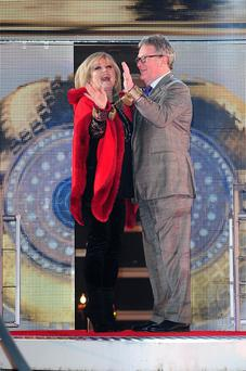 Linda Nolan and Jim Davidson arriving at the Celebrity Big Brother house