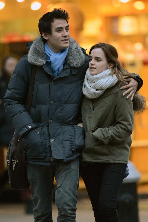 Emma Watson pictured with her boyfriend Will Adamowicz on a lovely stroll hugging each other on the Upper East Side in New York City