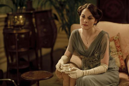 A CARNIVAL FILMS PRODUCTION FOR ITV1. DOWNTON ABBEY. EPISODE 4 ITVÕs new costume drama series, Downton Abbey, written and created by Oscar-winning writer Julian Fellowes and made by Carnival Films for ITV will star Maggie Smith as Violet, Dowager Countess of Grantham, Hugh Bonneville as Robert, Earl of Grantham and Elizabeth McGovern as RobertÕs wife, Cora, Countess of Grantham. They will lead an all-star cast, which also includes: Penelope Wilton, Dan Stevens, Michelle Dockery, Jim Carter, Phyllis Logan, Lesley Nicol, Siobhan Finneran, Rob James Collier, Joanne Froggatt and Rose Leslie. Set in an Edwardian country house in 1912, Downton Abbey will portray the lives of the Crawley family and the servants who work for them. PICTURED: MICHELLE DOCKERY as Lady Mary Crawley. This photograph is (C) ITV Plc/CARNIVAL FILMS and can only be reproduced for editorial purposes directly in connection with the programme or event mentioned above, or ITV plc. Once made available by ITV plc Picture Desk, this photograph can be reproduced once only up until the transmission [TX] date and no reproduction fee will be charged. Any subsequent usage may incur a fee. This photograph must not be manipulated [excluding basic cropping] in a manner which alters the visual appearance of the person photographed deemed detrimental or inappropriate by ITV plc Picture Desk. This photograph must not be syndicated to any other company, publication or website, or permanently archived, without the express written permission of ITV Plc Picture Desk. Full Terms and conditions are available on the website www.itvpictures.com Photographer: NICK BRIGGS. For further information please contact: patrick.smith@itv.com