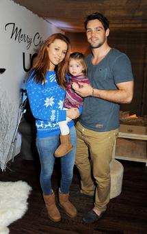 Una and Ben attend the launch of the UGG Christmas Grotto at Duke of York Square in November with their daughter Aoife Belle. Photo: David M. Benett/Getty Images for UGG
