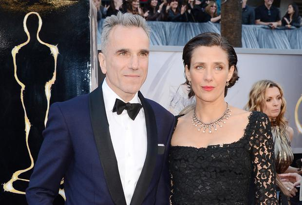 Daniel Day-Lewis and wife Rebecca Miller arrive at the Oscars ceremony last year. Photo: Getty