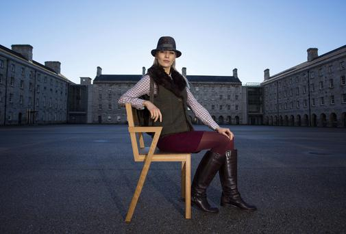 Model Teo Sutra pictured at the National Museum of Ireland, Collins Barracks. Photo: Andres Poveda