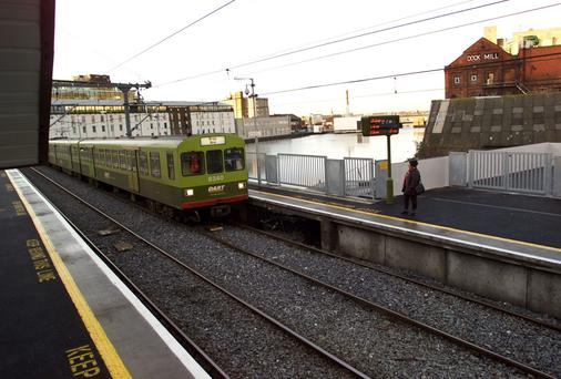 The DART Station at Grand Canal Dock, Barrow Street