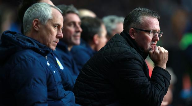 Aston Villa manager Paul Lambert during the FA Cup Third Round match at Villa Park, Birmingham. Photo: David Davies/PA Wire.