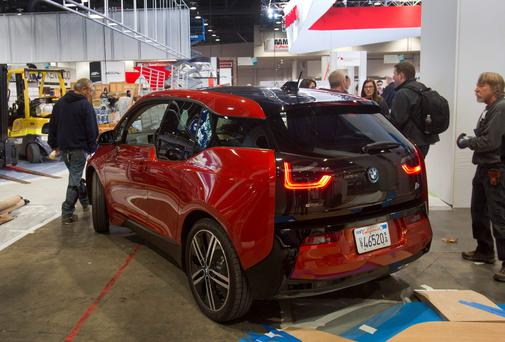 A BMW i3 electric car at the 2014 Consumer Electronics Show in Las Vegas REUTERS