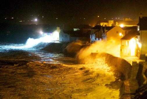 The prom in Lahinch that received major damage during storm that hit the West coast over the weekend. Pic: Gavin Gallagher / SCP