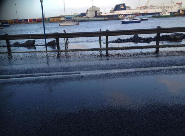 East Link bridge which was taking on water this afternoon