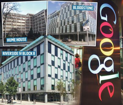 The buildings bought by Google and Blackstone