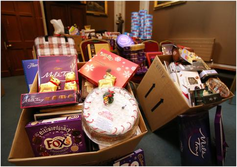 Some of the unused and unwanted gifts which were donated to the Pro-Cathedral's unused and unwanted gifts campaign in association with Crosscare . All the gifts will be distributed by Crosscare . Pic Frank McGrath
