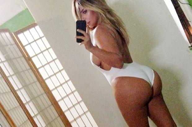 Kim Kardashian posted this 'belfie' to show her post-pregnancy weight loss. (Instagram/Kim Kardashian)
