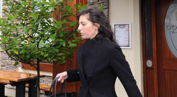 Jennifer Lauren, leaving a sitting of Killaloe District Court held in the downstairs function room of the Brian Boru pub. Photo: Niall Carson/PA Wire
