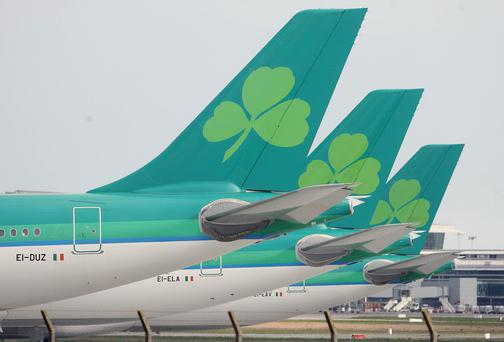 Aer Lingus's US-bound aircrafts were 83pc full last year.
