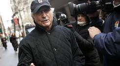 Disgraced financier Bernie Madoff