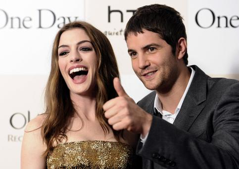 Actors Anne Hathaway and Jim Sturgess attend the premiere of