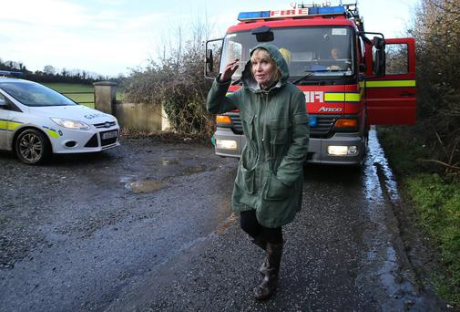 State pathologist Dr Marie Cassidy after examining the body of Christy Daly near Clara on January 7. Picture: Frank McGrath