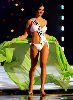 Monica Spear pictured in 2005 taking part in Miss Universe
