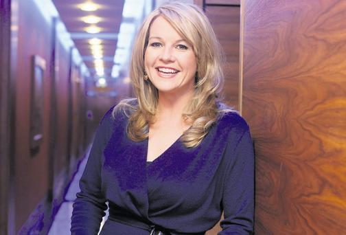 Claire Byrne at RTE for her return to Prime Time following her maternity leave