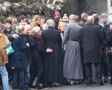 The memorial service of Jake O'Neill aged 22yrs at Dunmore East, Co.Waterford. Photo; Mary Browne