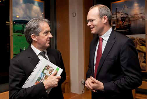 Bord Bia CEO, Aidan Cotter, and the Minister of Agriculture, Simon Coveney