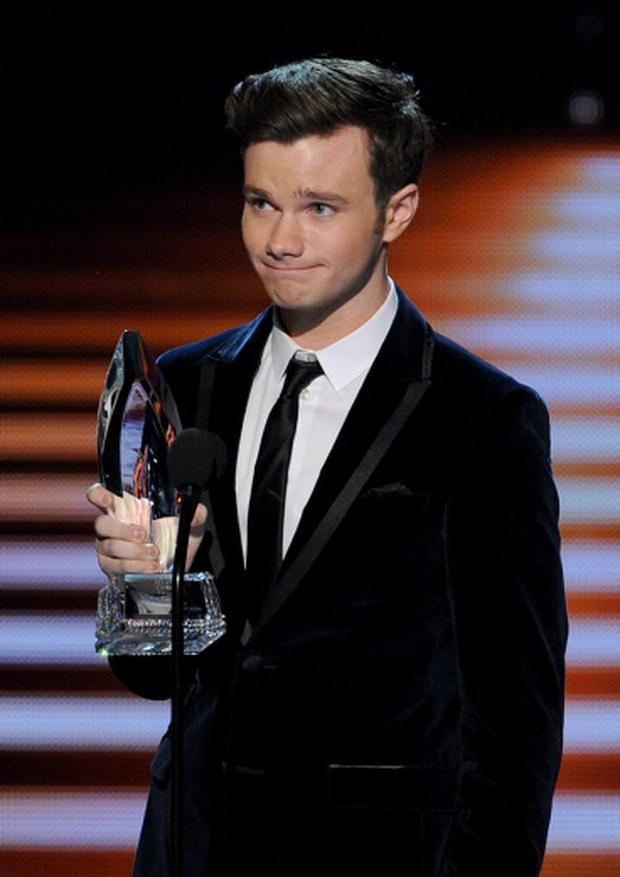 Actor Chris Colfer, winner of the Favorite Comedic TV Actor award for