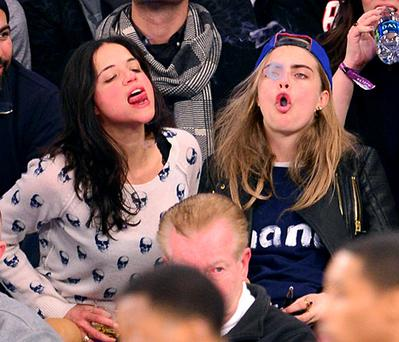 Michelle and Cara caused a storm at the New York Knicks game