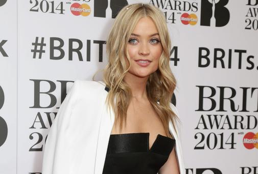 Laura Whitmore arriving for the BRITS nominations, at ITV Studios, Southbank in London.
